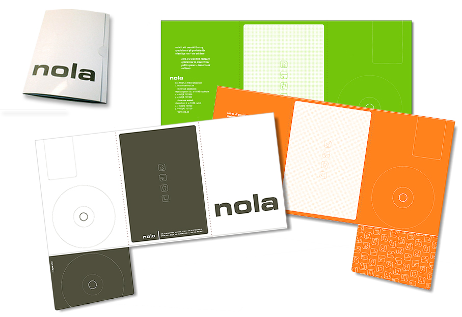packaging design of press/CD folder