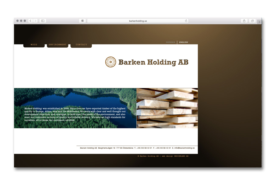 designing and building website / www.barkenholding.se
